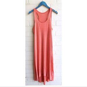 Eileen Fisher Linen Stripe Racerback Dress